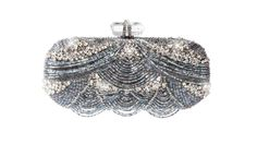 Marchesa Bugle Bead Embroidered Clutch