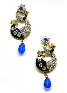 Sizzling Blue Earring Set
