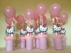 hello kitty baby shower decorations | Cumpleaños Fiesta Infantil Hello Kitty Centros De Mesa 1b0kla (Otros ...