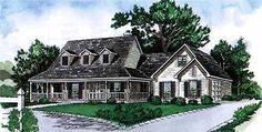 Country Welcome - 8320DC | Country, Farmhouse, 1st Floor Master Suite, Bonus Room, PDF, Split Bedrooms, Wrap Around Porch, Corner Lot | Architectural Designs