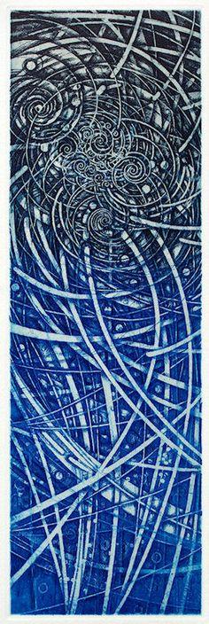 212/老子考(25)-道法自然/ Considering Lao-tse(25) ED/50 definitive edtion etching, engraving 36x11.5cm HAYASHI Takahiko 林孝彦 2016