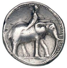 2 Scekel - argento - Carthago Nova, Spagna (237-209 a.C.) - Elefante guidato da Mahout con pungolo vs.dx. - Münzkabinett Berlin