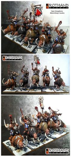Ogre mournfangs cavalry
