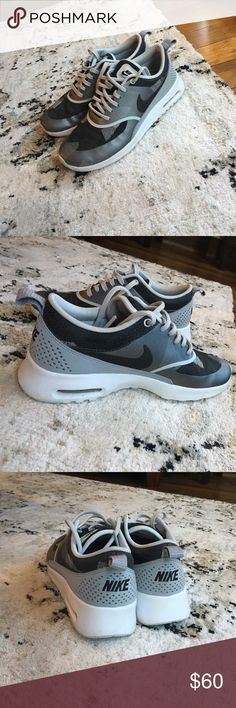 Gently used Nike Air Max Thea **offers accepted** Black/Silver/White Nikes. Worn to lift 4 times. Nike Shoes Athletic Shoes