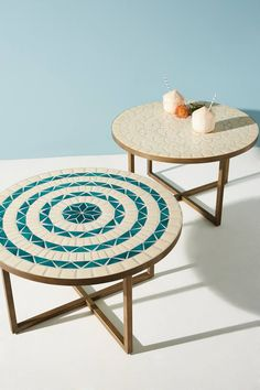 awesome outdoor furniture for small spaces | Mosaic Tiled Bistro Table - Mid-Century Orange | west elm ...
