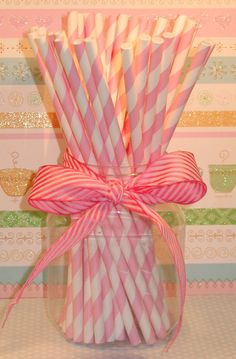Bubble Gum Pink and White Barber Stripe by sweettreatssupplies, $4.25