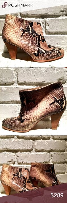 LES PRAIRIES DES PARIS Snakeskin & Leather Booties Amazingly beautiful Snakeskin booties in Euro Size 37 from LES PRAIRIES DES PARIS. In very good condition. Slight scuff on soles. Heels and toes in great condition. LES PRAIRIES DES PARIS Shoes Ankle Boots & Booties