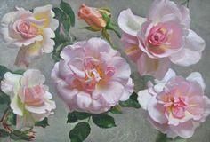Roses by John Bulloch Souter (Scottish 1890-1971), oil on board