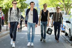 Is There Such A Thing As Male Model-Off-Duty Style? #refinery29  http://www.refinery29.uk/male-model-style#slide-10  The gang's all here....