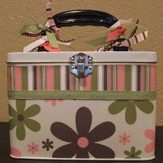 altered lunch box for cute storage