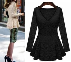 Image result for long peplum tops