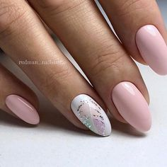 Pink Manicure – TOP 27 Cute Suggestions for Pink Nails in a Fashion Edition! Almond Acrylic Nails, Cute Acrylic Nails, Pastel Nails, Acrylic Nail Designs, Cute Nails, Pretty Nails, Nail Art Designs, Classy Nails, Stylish Nails