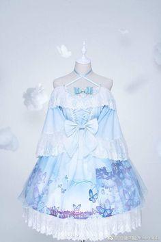 Anime Outfits, Dress Outfits, Cool Outfits, Sword Art Online Yuuki, Blue Anime, Drawing Anime Clothes, Anime Dress, Kawaii Clothes, Hanfu
