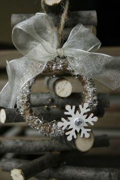 Mason Jar Ring Ornament Diy Christmas Ornaments Xmas