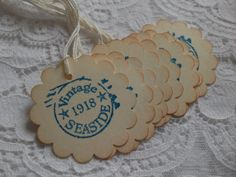 Vintage Seaside Stickers or Gift Tags  by TatteredRosesPaperie, $5.50