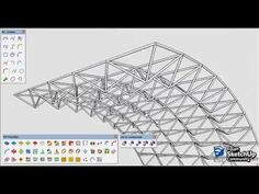 Space truss modeling | SketchUp | - YouTube Sketch Up Architecture, System Architecture, Architecture Wallpaper, Space Architecture, Steel Trusses, Roof Trusses, Space Truss, Truss Structure, Concept Shop