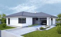 Affordable House Plans, New House Plans, Bungalow, Sweet Home, Shed, New Homes, Exterior, Outdoor Structures, Bedroom