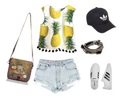 """L.A. Fun"" by rachelsdescription on Polyvore featuring adidas, Chanel and Pieces"