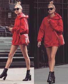 "1,310 Likes, 4 Comments - Hailey Baldwin (@haileybstyle) on Instagram: ""Hailey Baldwin street style is everything  Obsessed #haileybaldwin #lovethislook #look #fashion…"""