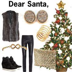 """Dear Santa,"" by river-blue on Polyvore"