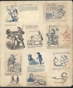 Jefferson Davis Columbia Secession c.1860-65 Civil War 20 antique cartoon prints