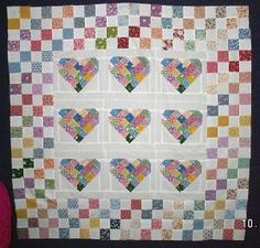 Scrap Quilts Photo Gallery: Patchy Hearts and Four Patches Quilt