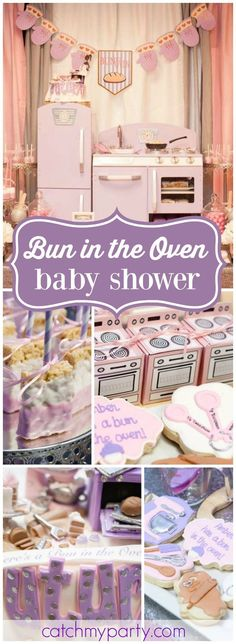 How cute is this bun in the oven baby shower?! See more party ideas at CatchMyParty.com!
