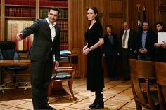 Angelina Jolie Wearing a Black Dress and Boots | POPSUGAR Fashion
