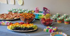Faith turned 6 and we celebrated with a Rainbow Dash My Little Pony party!       The party food was rainbow themed, to coordinate with Fai...