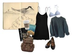 """""""Day-trip: sea"""" by autumnsorrow ❤ liked on Polyvore featuring Moleskine, Chanel, Katie Leamon, FOSSIL, Fountain, J.Crew and Jeffrey Campbell"""