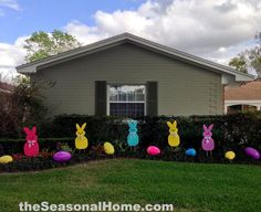 Larger-than-life Yard Peeps Outdoor Decorations