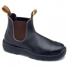 new arrival ee434 53145 Blundstone 172. A stout brown safety boot with a premium oiled leather  elastic side boot