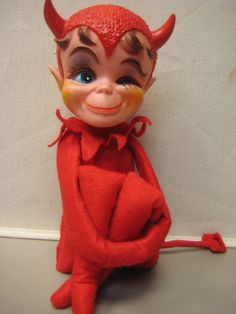 I have elves for Christmas that look so similar Retro Baby, Retro Vintage, The Devil Inside, Dollar Tree Fall, Vintage Halloween Decorations, Christmas Bells, Halloween Art, My Ride, Hallows Eve