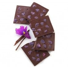 Candied Violet Chocolate Bar from Sucre