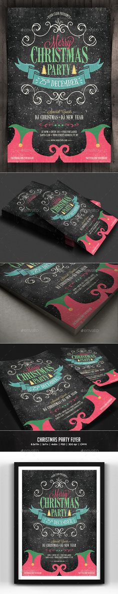 Christmas Party Flyer Template PSD #design Download: http://graphicriver.net/item/christmas-party-flyer/13639812?ref=ksioks