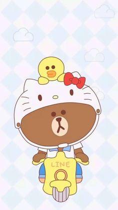 Sanrio Wallpaper, Hello Kitty Wallpaper, Kawaii Wallpaper, Kawaii Cute Wallpapers, Line Cony, Japanese Wallpaper Iphone, Cony Brown, Hello Kitty My Melody, Hello Kitty Pictures