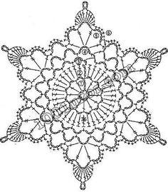 Transcendent Crochet a Solid Granny Square Ideas. Inconceivable Crochet a Solid Granny Square Ideas. Crochet Snowflake Pattern, Crochet Motifs, Crochet Snowflakes, Crochet Diagram, Doily Patterns, Thread Crochet, Crochet Crafts, Crochet Stitches, Crochet Projects