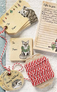 Fauna & Festoonery Gift Tag Set #anthrofave