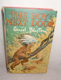 Vintage The Boy Next Door Hardcover Book Guiel Blyton 1971
