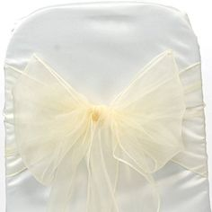 EDS 100 Organza Chair Bow Sash Wedding Banquet Decor sashes Ivory, http://www.amazon.co.uk/dp/B0114G9PMC/ref=cm_sw_r_pi_awdl_SSj3wb0QEGD83