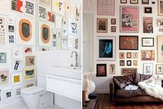 Gallery Walls for bathroom, but steam would ruin the pics.  Do in half-bath where no bathing takes place...