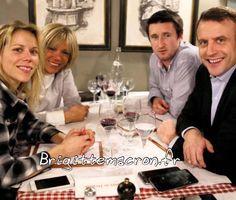 Repas en famille avec la fille (Tiphaine Auzière) et le gendre de Brigitte Macron. #brigittemacron #emmanuelmacron #macron