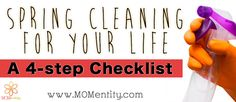 Spring cleaning for your life! Here's a checklist to follow.
