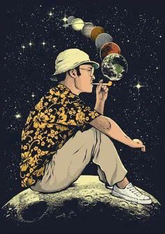 Fear and Loathing in Las Vegas. Raoul Duke. Trippy. Psychedelic. Surreal. Art.