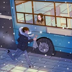 This Korean Artist Giving Serious Through His Illustration Drawing Cute Couple Drawings, Cute Couple Art, Cute Drawings, Love Cartoon Couple, Anime Love Couple, Couple Illustration, Illustration Art, Romantic Moments, Korean Artist