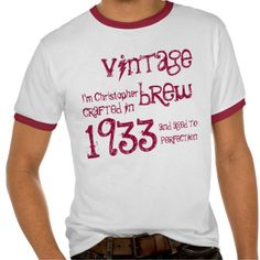 Gtquality Product 80th Birthday Gift 1933 Vintage Brew With Name Tshirt
