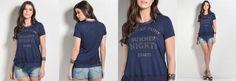 T-Shirt Colcci Azul com Babado