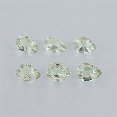 Pear shaped Green Amethyst Faceted type Eye clean clarity
