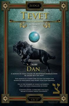 TEVET ~ Tenth Hebrew Month ~ Tribe of Dan