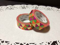 Brand new , Unused MT Masking tape - metallic triangles Limited edition  The limited MT was fold at the end of the tape from factory as the photo.